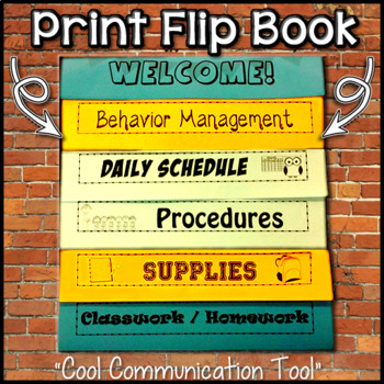 Free flip book template for teachers