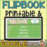 Digital Flipbook Back to School (Distance Learning)