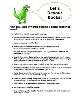 Parent Flyer for Reading