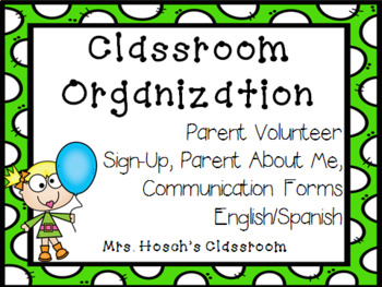 Classroom Organization: Parent Forms Great For The Beginning Of The Year