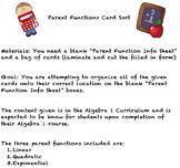 Parent Function Card Sort
