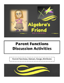 Parent Function Discussion Tools - 5 ACTIVITIES