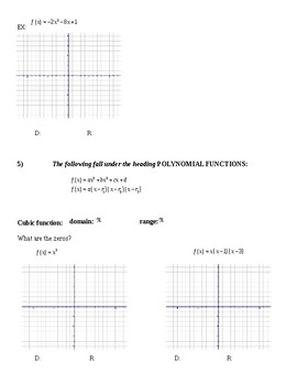 Parent Function Note Sheet