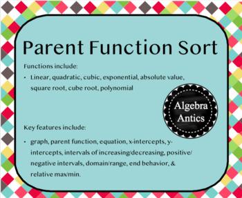 Parent Function Sort