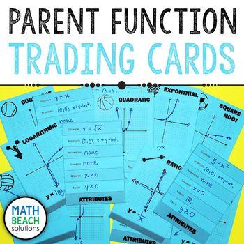 Parent Function Trading Cards Activity