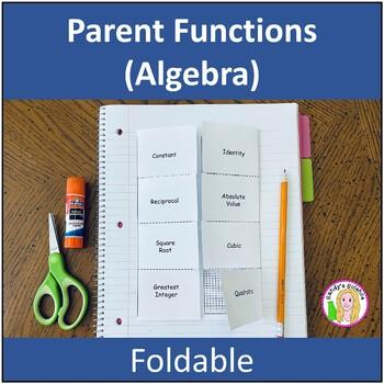 Parent Functions (Algebra) Foldable