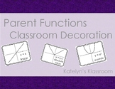 Parent Functions Anchor Signs