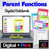 Parent Functions Digital Notebook for GOOGLE™ plus Printable Version