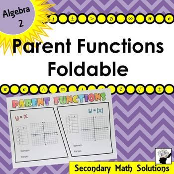 Parent Functions Foldable (2A.2A)