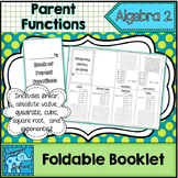 Parent Functions Foldable Booklet