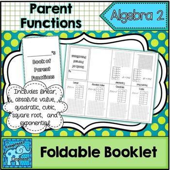 Parent Functions Foldable Booklet