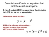 Parent Functions - Graphing Absolute Value and Quadratic F