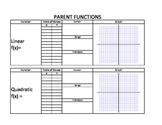 Parent Functions & Transformation Handout