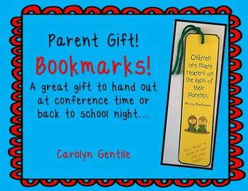 Parent Gift - Bookmarks