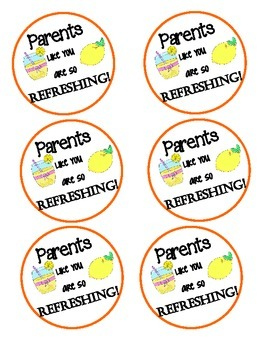 Parent Gift Tags: Parents like you are so Refreshing!