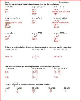 Parent Graphs (Families of Graphs) and Linear Programming (WS)