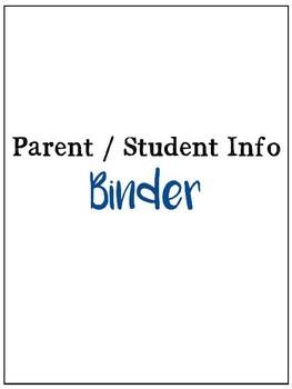 Parent/Guardian Binder