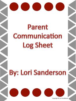 Parent/Guardian Communication Log