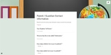 Parent Guardian Contact Google Form (Setup to accept 1 - 8