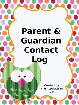 Parent & Guardian Contact Log