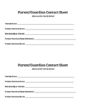 Parent Guardian Contact Slips