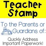 Parent/Guardian Stamp