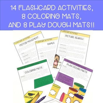 Expressive Language Vocabulary Activities- Early Concepts
