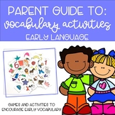 Parent Guide: Expressive Language Vocabulary Activities fo