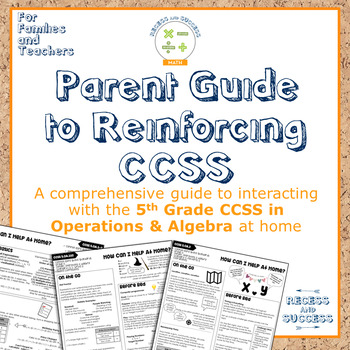 """Parent Guide: """"How Can I Help At Home?"""" (OA, Grade 5)"""