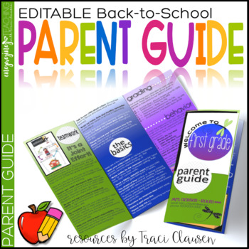 Back to School Night Parent Guide Pamphlet