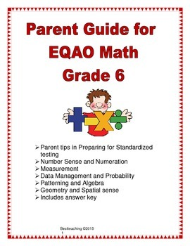 Parent Guide for EQAO Math Grade 6