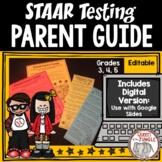 STAAR Test Parent Guide | Standardized Testing Parent Guide includes Digital
