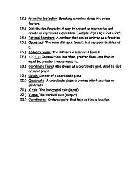 Parent Guide to 6th Grade Common Core Math