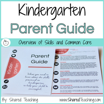 Kindergarten Skills and Common Core Guide for Parents
