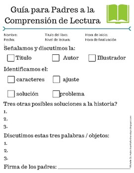 Parent Guide to Reading/Listening Comprehension-Spanish Version