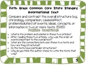 Parent Guide to the Fifth Grade Informational Text Common Core State Standards