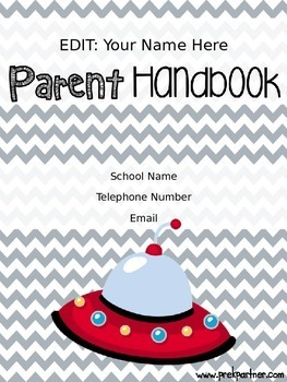 Parent Handbook {EDITABLE} Out of this World Themed