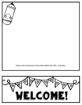Parent Handbook Flip Book for Back to School