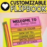 EDITABLE Back to School Parent Information Flip Book (No C