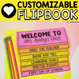EDITABLE Back to School Parent Information Flip Book (No Cut Flipbook)
