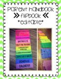 Parent Handbook Flipbook Editable