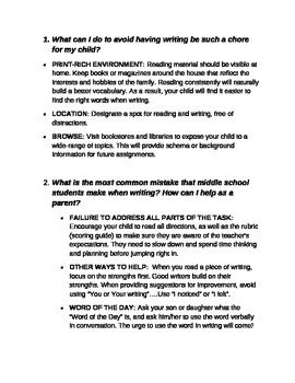 Parent Handbook-Help Your Child Become a Stronger Writer
