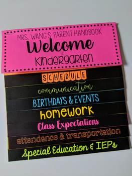 Parent Handbook Spanish/English Editable- Back to School!