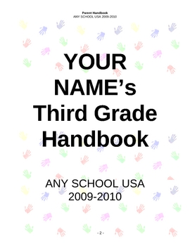 Parent Handbook Template by Ready Now Consulting | TpT