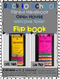 Parent Handbook/ Welcome letter/Open House/Back-to-School