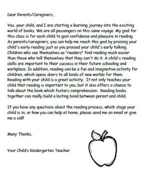 Parent Handbook for Kindergarten Reading