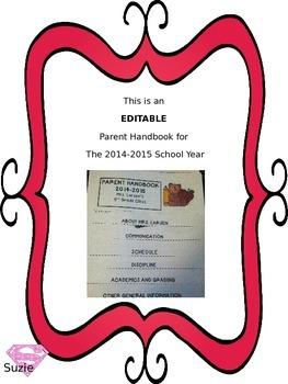 Parent Handbook for the 2014 - 2015 School Year