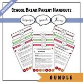Parent Handout BUNDLE: Winter, Spring, and Summer Break