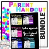 Parent Handout Bundle of Phonological Processes