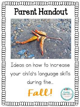 Parent Handout- Fall